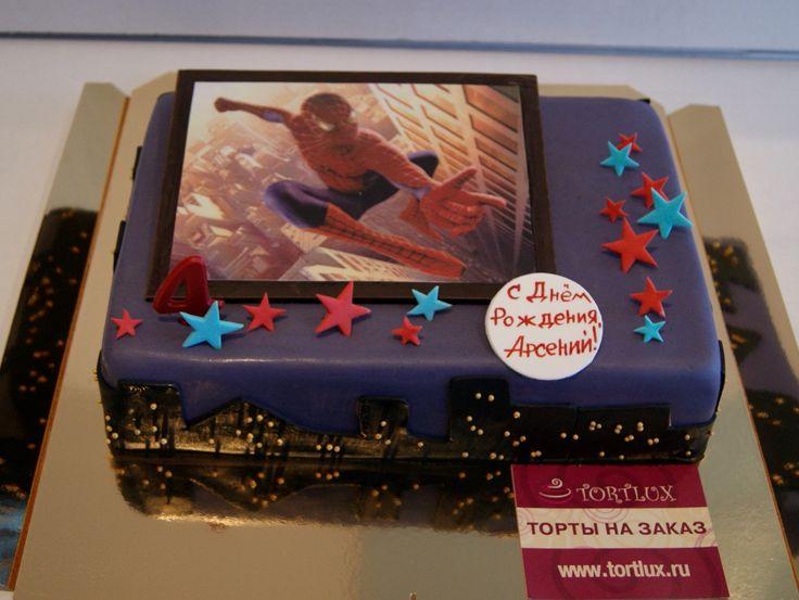 "Фото торт ""Человек-Паук"".Вес 3 кг."