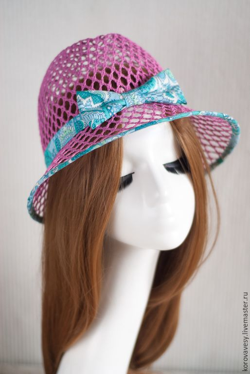 Купить Бирюза и розы - розовый, соломенная шляпка, бирюза, бирюзовый, бантик, летняя мода