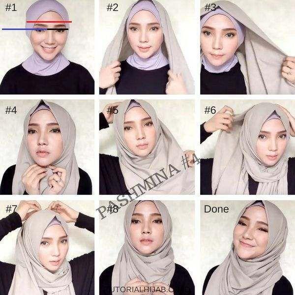 25 Tutorial Hijab Pashmina Simple Anggun Untuk Formal Serta Sehari Hari Hijab Anggun Simple Wedding Dress Casual Casual Wedding Dress Simple Chic