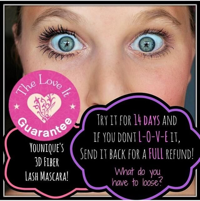 Younique 3D Fiber Lash Mascara! Try your today Risk Free with our 14 day guarantee! www.VampYourLashes.com