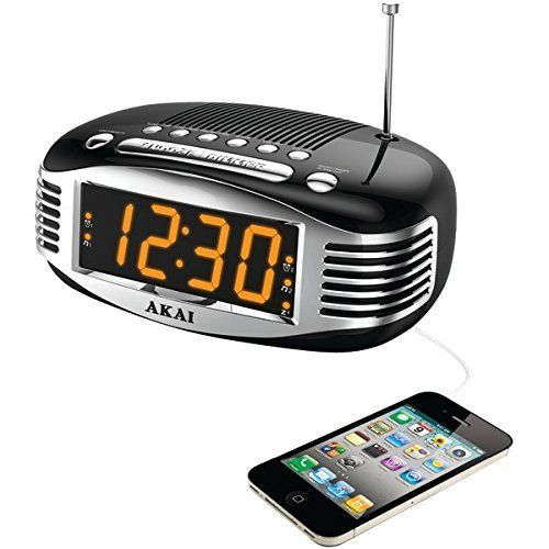 Akai CE1500 Retro Style Am and Fm Clock Radio With Pll Tuner >>> Remarkable discounts available  : Home Decor Clocks