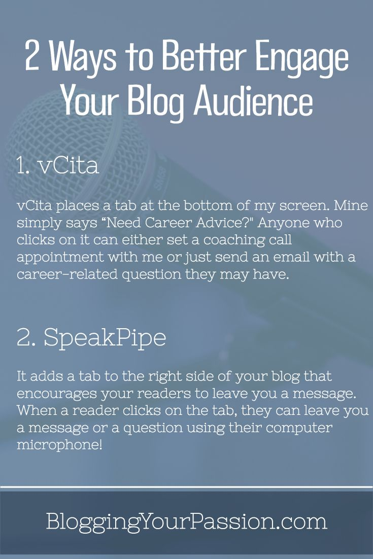 Learn 2 voice capture tools that will help you engage your audience even better! http://bloggingyourpassion.com/2-ways-to-better-engage-your-blog-audience/?utm_campaign=coschedule&utm_source=pinterest&utm_medium=Jonathan%20Milligan%20%7C%20Blogging%20Your%20Passion%20%7C%20Tips%2C%20Strategies%20and%20Ideas&utm_content=2%20Ways%20to%20Better%20Engage%20Your%20Blog%20Audience