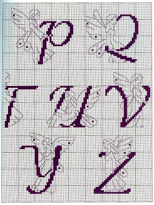 Outlined Fairy Alphabet 4 end