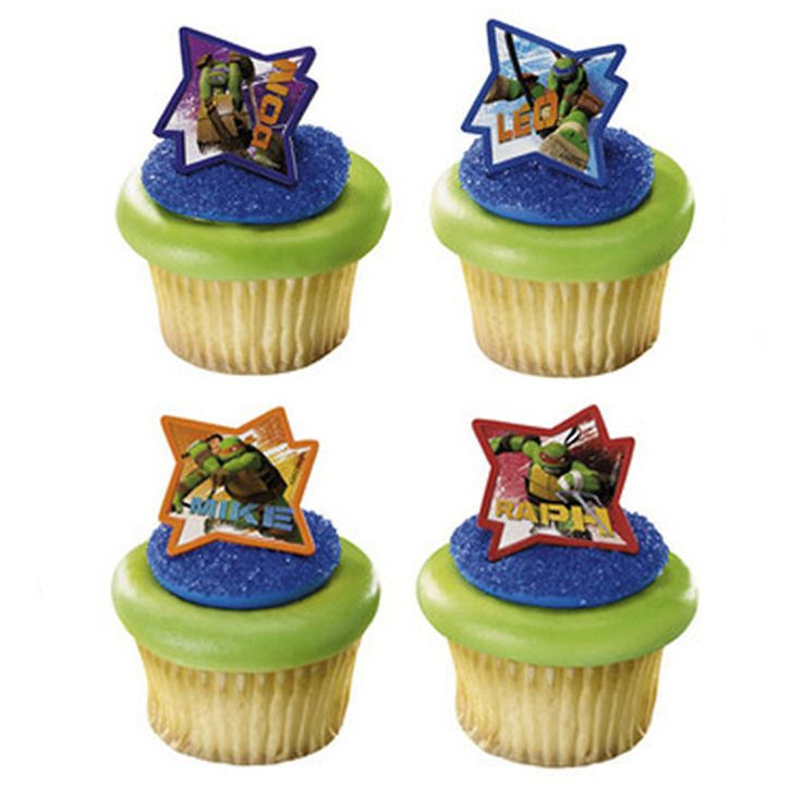 Cupcake Favor Rings - Ninja Turtles (24)