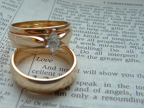 Wedding Rings Pictures bible and wedding rings