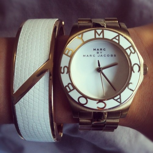 Marc Jacobs white and gold