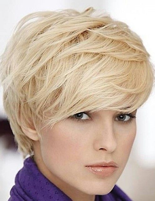 Cute Short Hairstyle with Bangs for Thick Hair