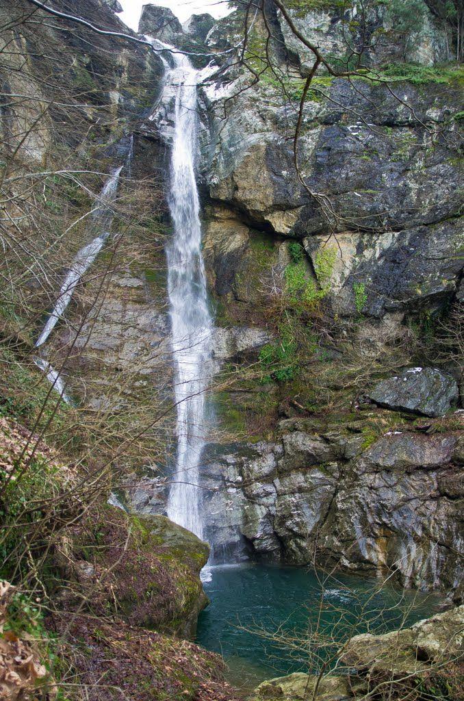 Waterfall in Kalipso gorge, Kokkino Nero, Greece