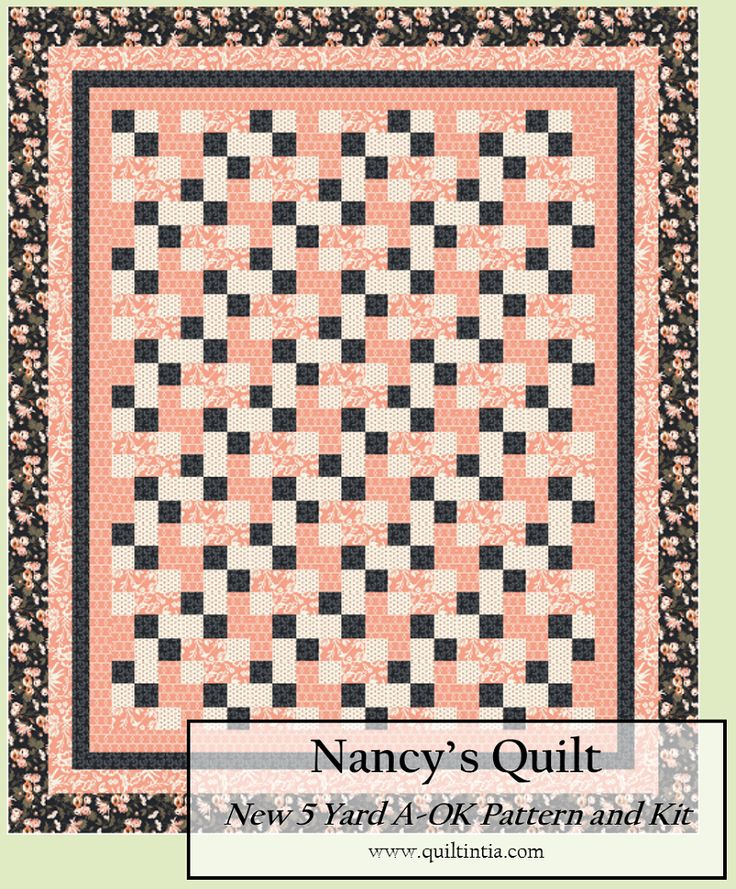 Nancy�s Quilt - Apricot and Persimmon - Quilt Kit