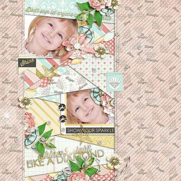 Shine Bright Like A Diamond by Jady Day  http://www.sweetshoppedesigns.com/sweetshoppe/product.php?productid=28250&cat=681&page=3 Patched Up template by Little Green Frog Designs http://scraporchard.com/market/Patched-Up-Digital-Scrapbook-Template.html