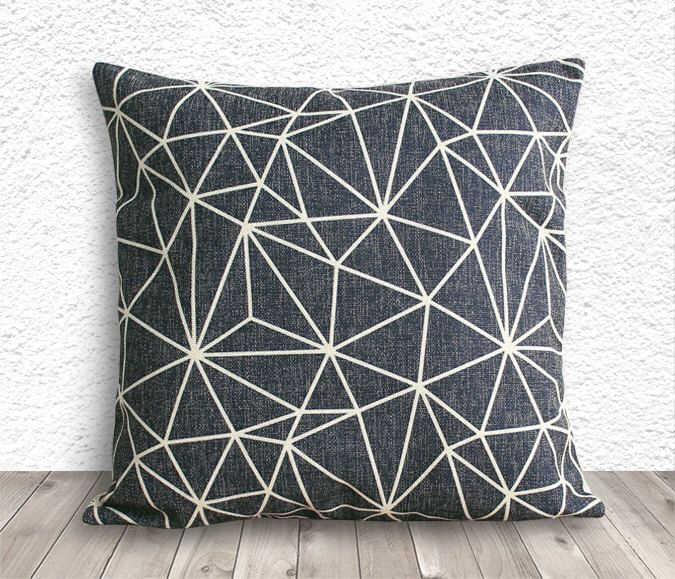 Decorative Throw Pillows, Pillow Covesr, Pillow Cases, Cushion Cover, Black Decorative Pillows, Linen Pillow Cover - Printed Geometric - 039 by 5CHomeDecor on Etsy https://www.etsy.com/listing/161430740/decorative-throw-pillows-pillow-covesr