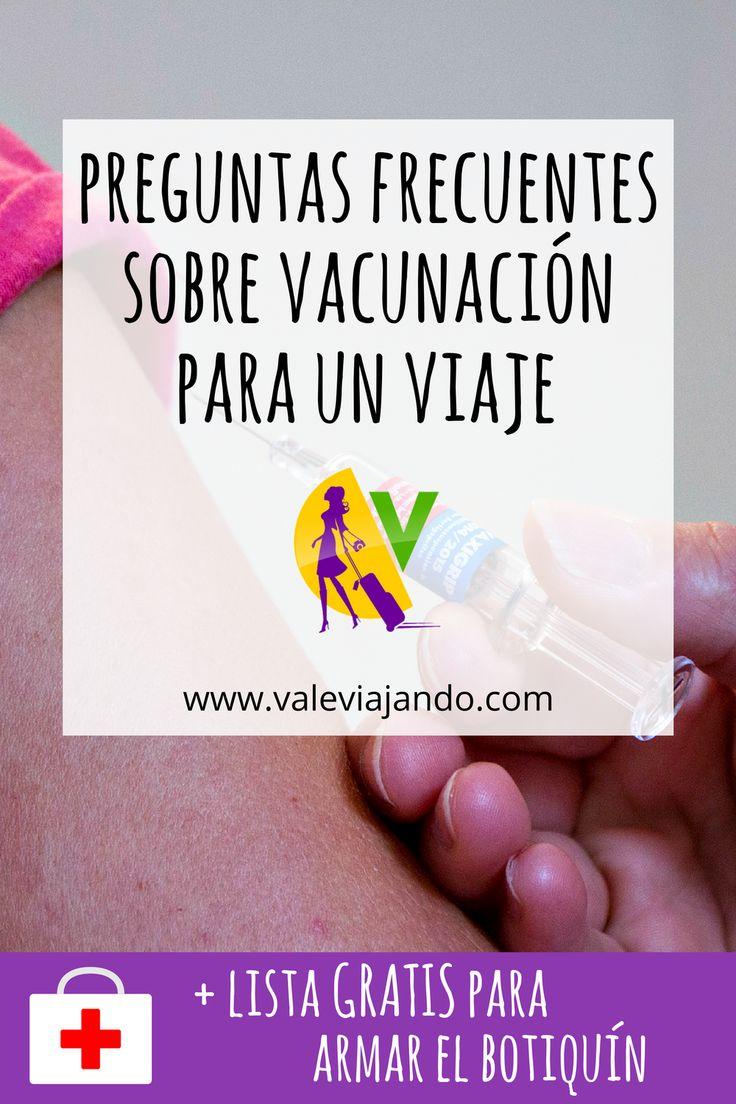 Preguntas frecuentes sobre vacunación para un viaje