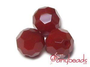 Dark Red Coral - Swarovski Crystal 5000 Round Beads 8mm  #DarkRedCoral #Swarovski #Crystal #5000 #beads #crystalbeads #jewelrysupplies #anybeads
