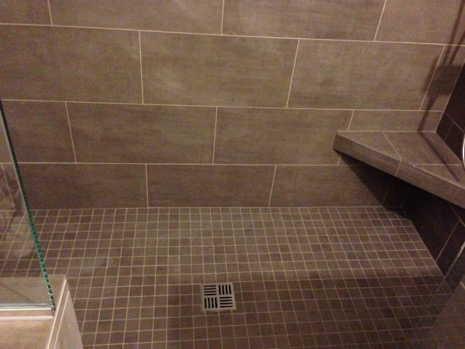 tile bathroom shower pictures 12x24 gray tile this bathrooms 20816