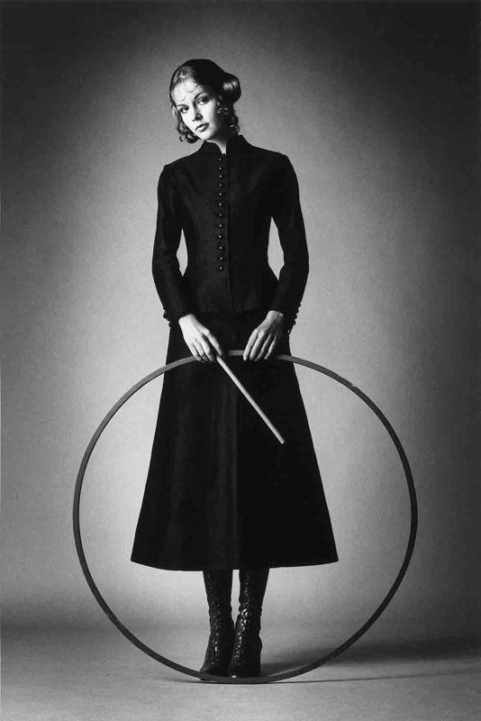 Barbara Rix-Sieff wearing YSL photo Jeanloup Sieff 1969