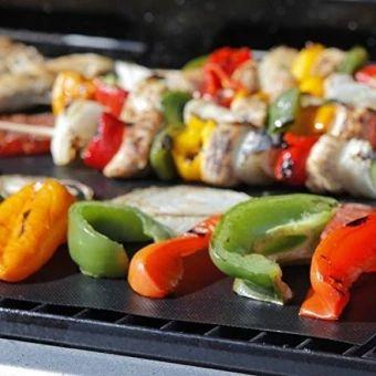 ของดี  BBQ Grill Mats:, 2 Highest Quality Non-Stick PFOA-Free ReusableExtra Thick BBQ Grill & Baking Mats, with Bonus Grill MasteryRecipe Ebook - intl  ราคาเพียง  1,729 บาท  เท่านั้น คุณสมบัติ มีดังนี้ PERFECT FOR HEALTHY EATING: Use your BBQ Grill Mats to eathealthily in style! Veg, meat, fish won\t fall though the cracks,split, flare up, stick or fall apart. Never worry about unhygienic public grills again. Cook healthier, tastier food without fats and oils. This grilling mat for BBQ is…