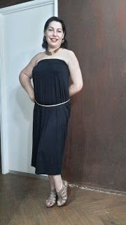Hi Well this is a hack that almost never was. I was leaving Kmart this afternoon when I spotted this plain black maxi skirt reduced to clear for $4!!  I couldn't believe my luck. I got home and immediately tried it on not around my waist but up around my underarms as a strapless dress and it is perfect! It is super comfy and for $4 who can ask for more than that! I can dress it up with jewelry a belt and heels or dress down with perhaps just a pair of sandals and some earrings. Quick easy…
