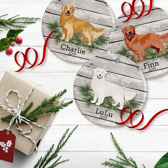 Personalized Golden Retriever Ornament Pet Memorial Gifts Pet
