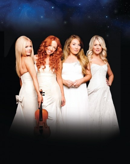 Celtic Woman left to right: Mairead nesbitt, Lisa Lambe, Chloe Agnew, Susan McFadden.
