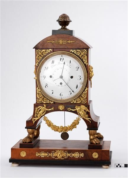 Clock by  Peter Rau, (born 1780-) Clockmaker Wien, made 1810
