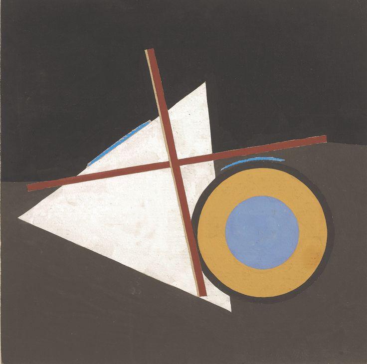Eduard Steinberg, Komposition, 1991, Gouache auf Karton, 41 x 41 cm
