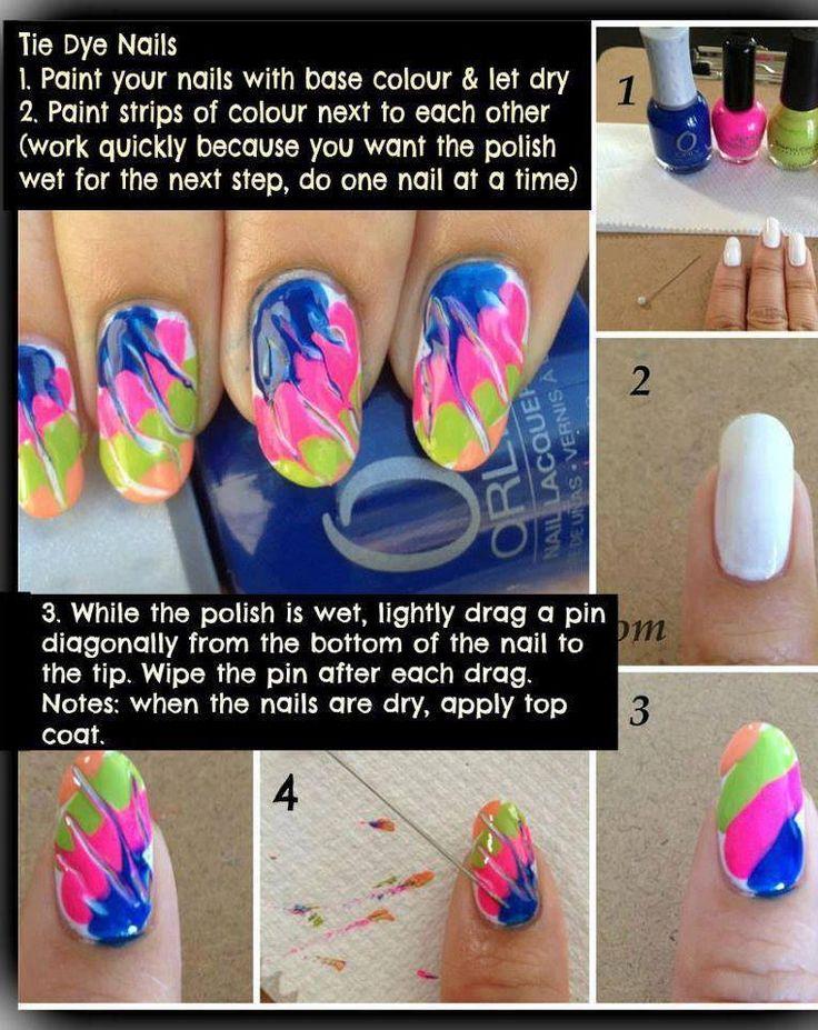 'Tie-dye' nails