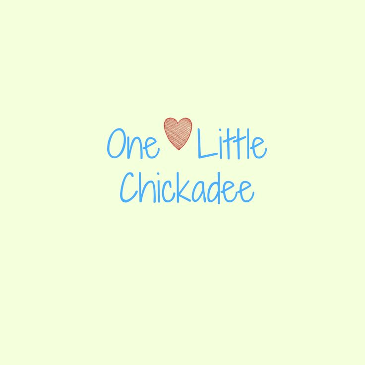 One Little Chickadee! Find me on Facebook (same name) and at onelittlechickadeeblog.blogspot.co.uk!