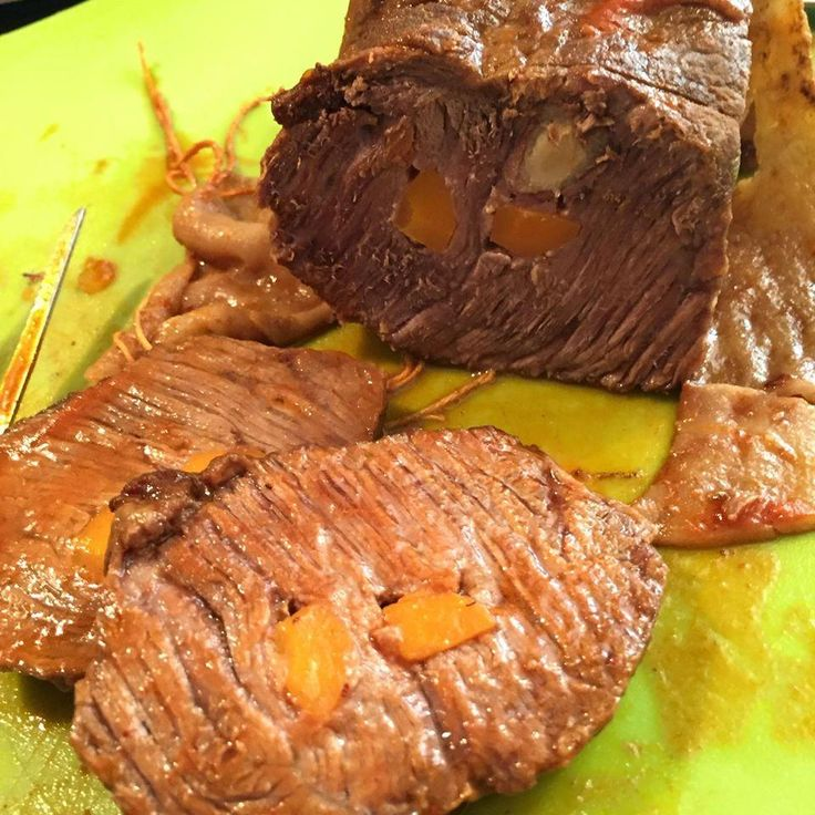 Carne mechada, receta chilena. Deliciosa y llena de sabor! Acompañala con pasta, patatas y todo!!
