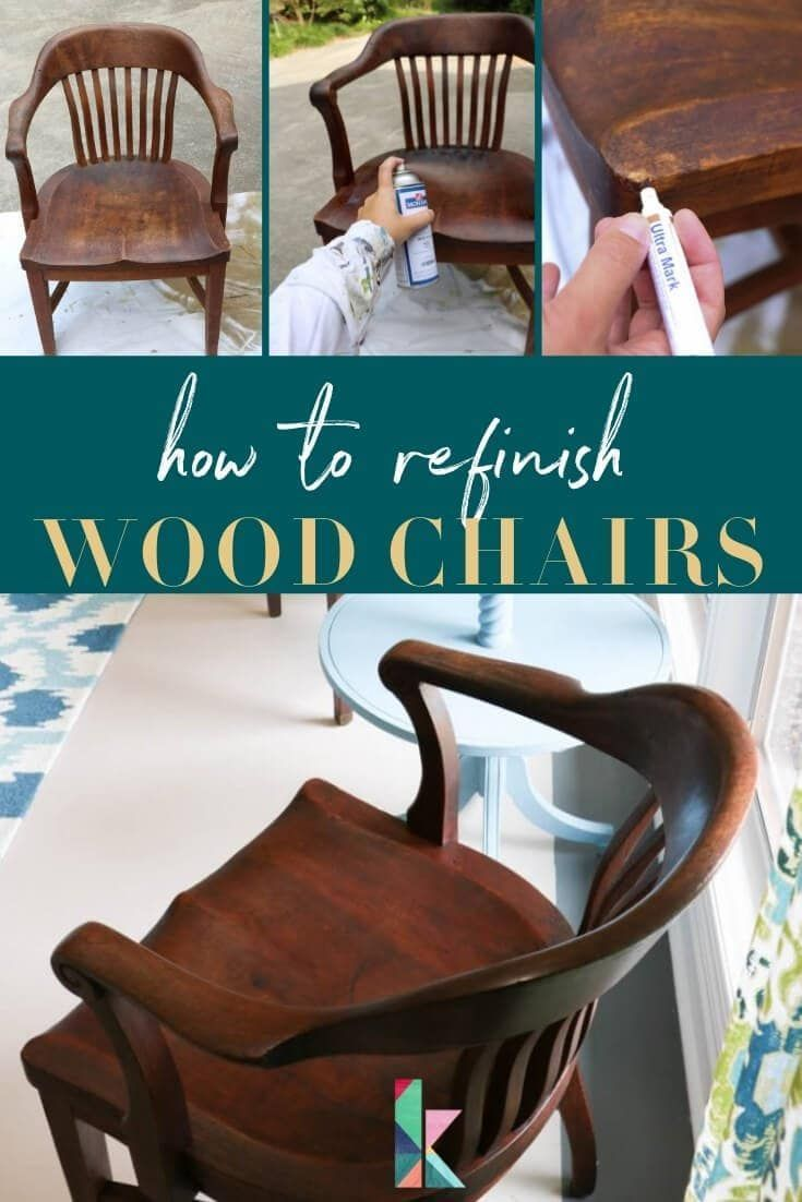 How To Refinish Wood Chairs The Easy Way Refinishing Furniture Diy Diy Wood Desk Refinishing Wood Tables