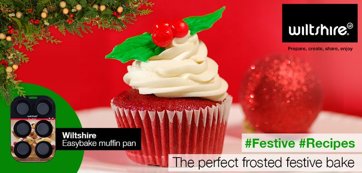 The perfect frosted festive bake … simple, delicious, red-velvet cupcake. See more: https://www.facebook.com/wiltshiresa