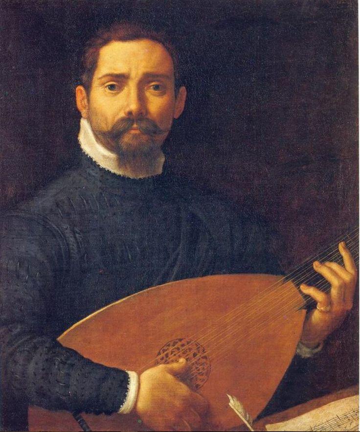 Annibale Carracci 1560 – 1609 pittore bolognese Ritratto di suonatore di liuto 1593-1594 Gemäldegalerie Alte Meister: