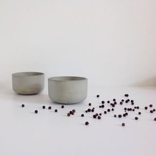 This is new, only sold online, and comes in natural shades of concrete only. Protected with an enriching sealer the feel on the hands is soothing.  Used for dry foods, precious items, herbs and more we have called it the