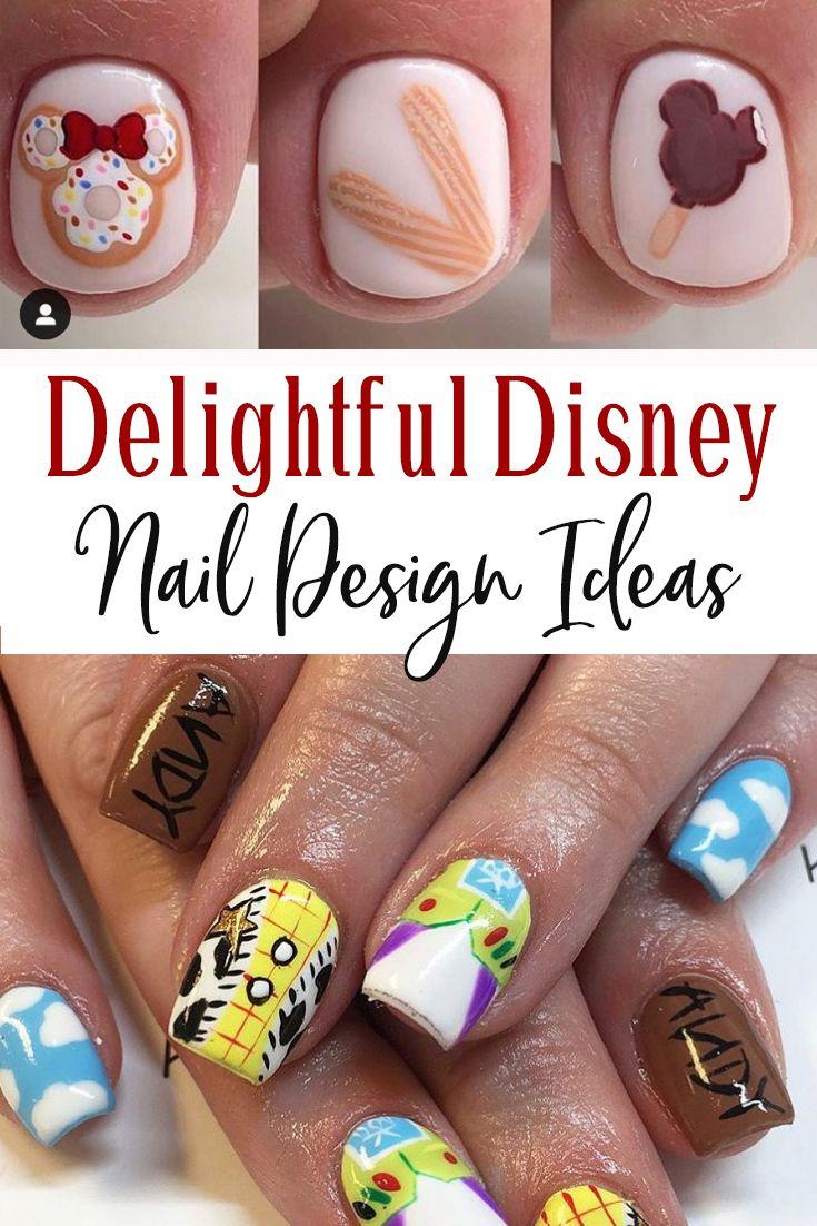 Delightful Disney Nail Design Ideas Travelingmom In 2020 Disney Nails Disney Nail Designs Simple Disney Nails