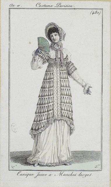via Flickr. Costume Parisien ca 1803