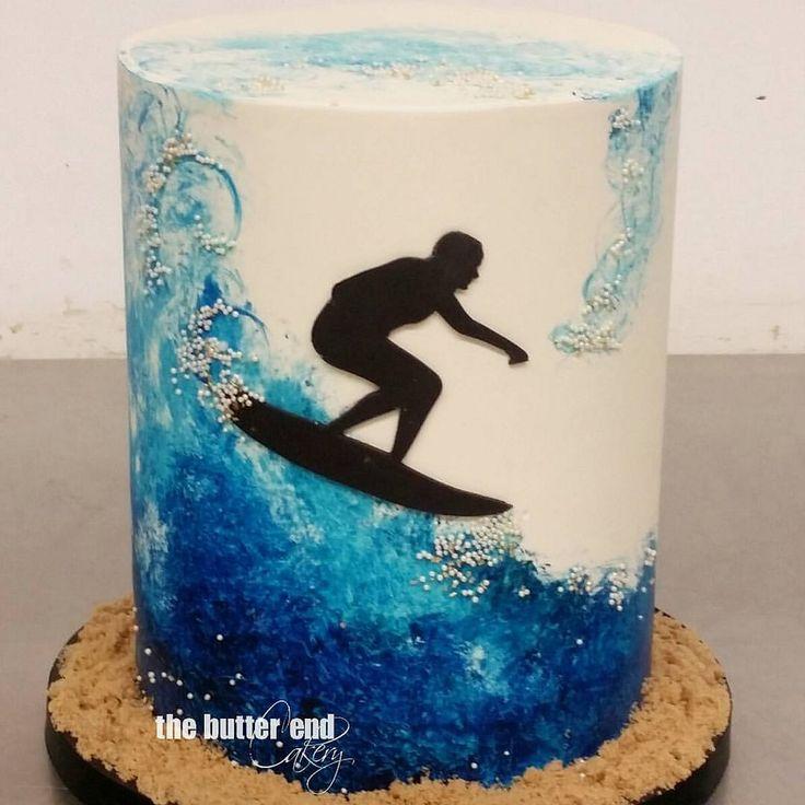 https://flic.kr/p/xDzgYb | Tubular.  #handpaintedcakes #surfer #surfing…