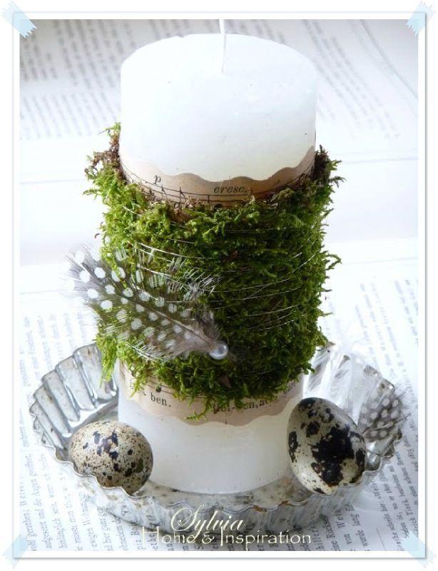 Meer dan 1000 idee n over lente decoraties op pinterest lentekransen paaskransen en kransen - Decoratie recup ...