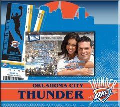 Oklahoma City Thunder Ticket & Photo Album Scrapbook