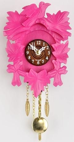 Kuckulino Black Forest Clock with quartz movement and cuckoo chime, pink, incl. batterie TU 2015 PQ pink