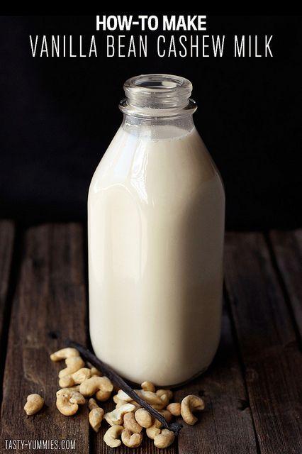 How-to Make Vanilla Bean Cashew Milk by Tasty Yummies, via Flickr
