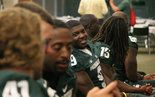 Take a behind the scenes look at Michigan State football's 2013 media day.