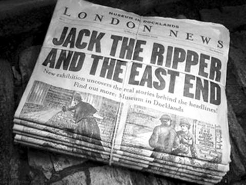 Jack the Ripper newspaper headline in London News