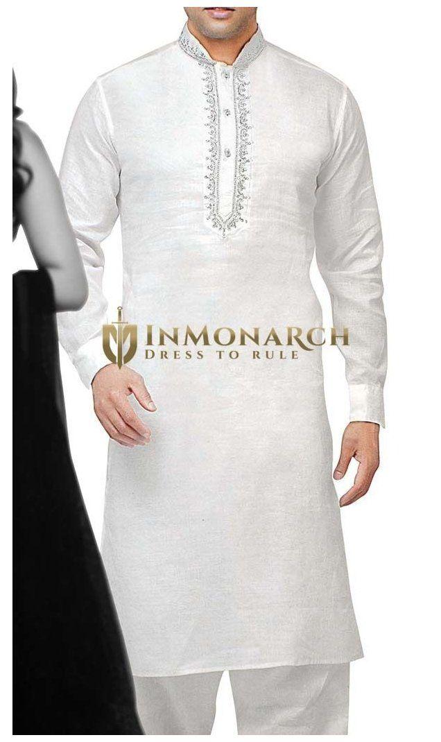 Details about  /New Men/'S 100 /% Cotton Kurta Pyjama Mandarin Collar Indian Ethnic Wear