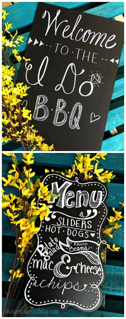 Welcome to the I Do BBQ Outdoor Games & Menu Wedding Sign