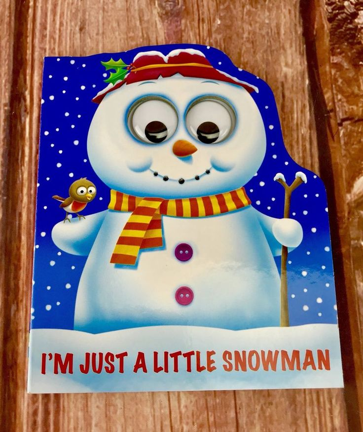 I'm Just a Little Snowman story Board book googly eyes stocking christmas santa
