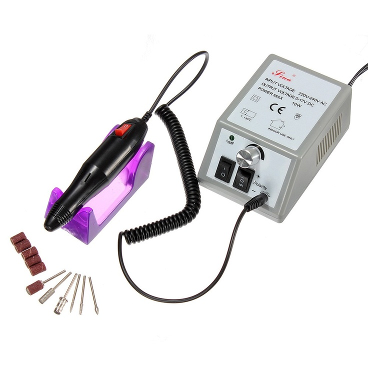 Professional Manicure Pedicure Electric Drill File Nail Art Pen Set via Goods from Michal. Click on the image to see more!