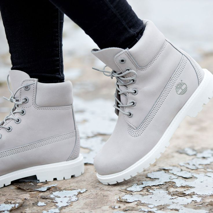 The Footasylum Exclusive Women's Timberland 6 Inch Premium Boot in Light Grey.