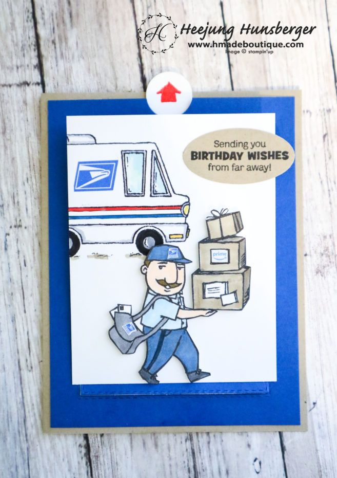 Usps Delivery Sliding Popup B Day Gift Card Holder Card H Made Boutique Gift Card Holder Cards Stamping Up Cards