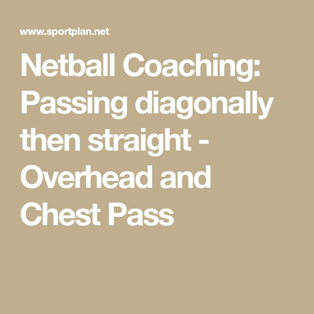 Netball Coaching: Passing diagonally then straight - Overhead and Chest Pass