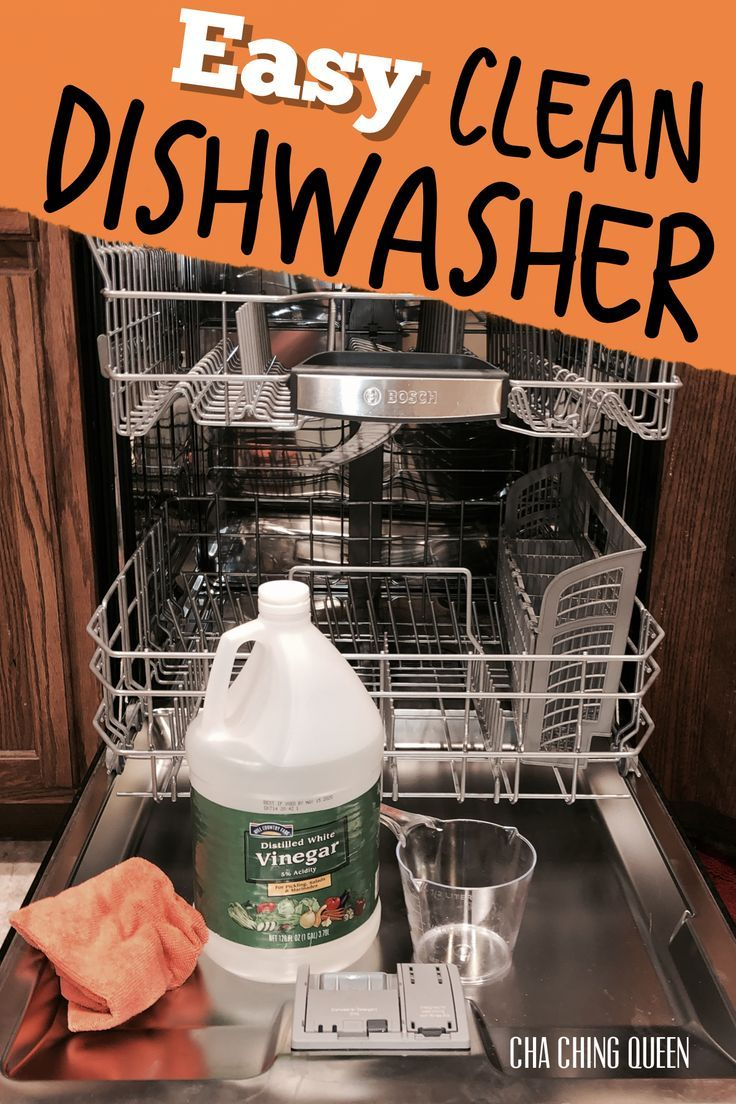 How to clean your dishwasher with vinegar and cleaning