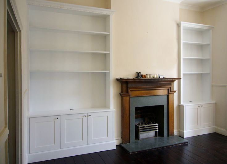 shelving ideas- cabinets at the bottom and shelves on top